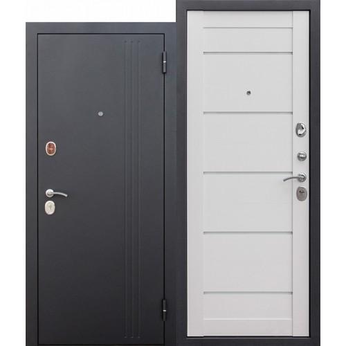 Входная дверь - 7,5 см НЬЮ-ЙОРК Царга Ясень белый эмаль