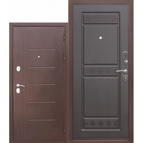 Входная дверь - Троя медный антик Венге 10см