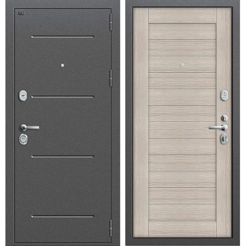Входная дверь - GROFF Т2-221 Антик Серебро/Cappuccino Veralinga
