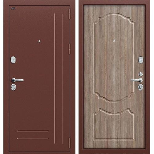 Входная дверь - GROFF P2-210 Антик Медь П-1 Темный Орех