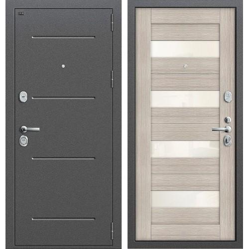 Входная дверь - GROFF Т2-223 Антик Серебро/Cappuccino Veralinga