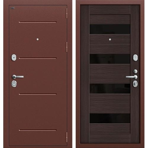 Входная дверь - GROFF Т2-223 Антик Медь/Wenge Veralinga