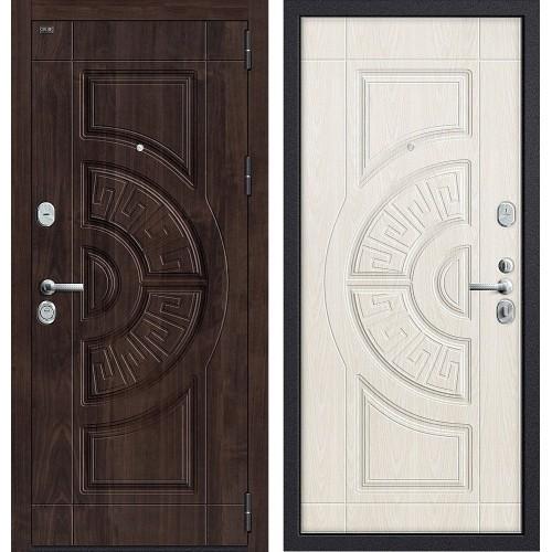Входная дверь - GROFF P3-312 П-28 (Темная Вишня)/П-25 (Беленый Дуб) Winorit