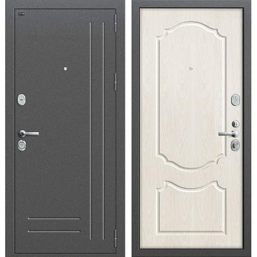 Входная дверь - GROFF P2-210 Антик Серебро/П-25 (Беленый Дуб)