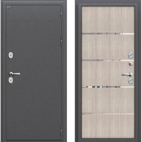 Входная дверь - Термо 204 Антик Серебро/Cappuccino Veralinga