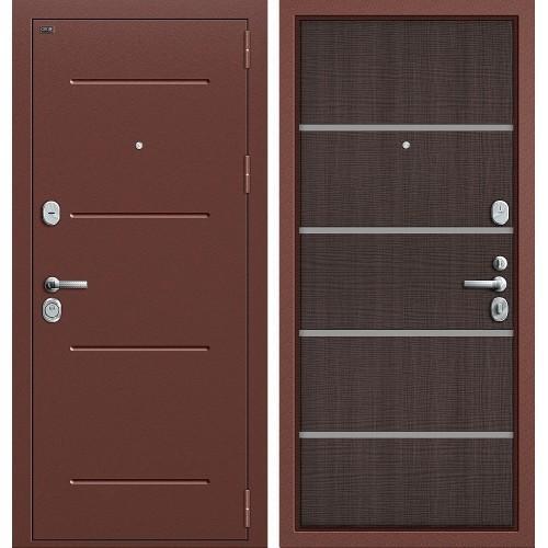 Входная дверь - GROFF Т2-204 Антик Медь/Wenge Crosscut