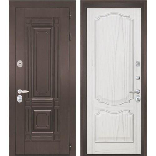 Входная дверь - Интекрон Италия-2 шпон ясень жемчуг