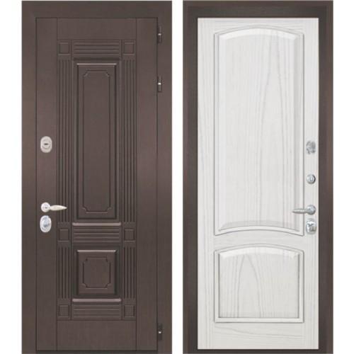 Входная дверь - Интекрон Италия-3 шпон ясень жемчуг