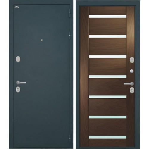 Входная дверь - Интекрон Греция-1 шпон Дуб бургундский