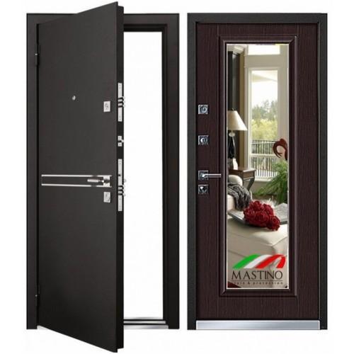 Входная дверь - Mastino Сielo (Parko) Черный шелк D4/ Венгe MS7 88L/96L