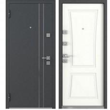 Входная дверь - Mastino TERRA Черный шелк/ белый софт