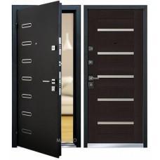 Входная дверь - Mastino Terra (Ponte) Черный шелк D1/Венге MS8