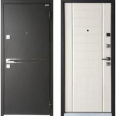 Входная дверь - Mastino Terra (Strada) Чёрный шёлк / Шамбори светлый