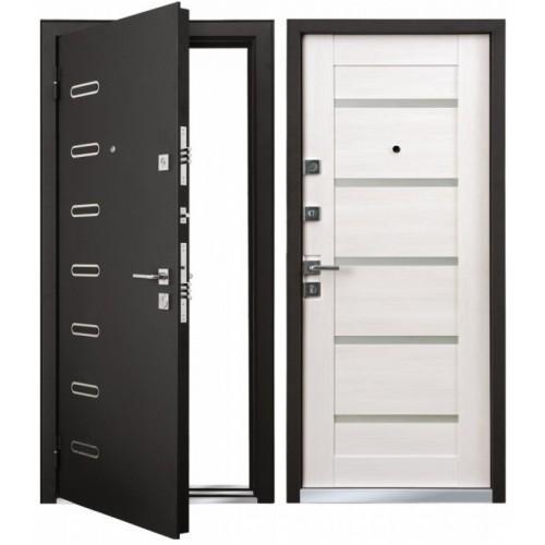Входная дверь - Mastino Terra (Ponte) Черный ШелкD1/Дуб Беленный MS8