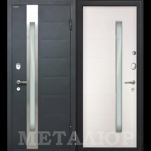 Входная дверь - МеталЮр М36 белый малибу