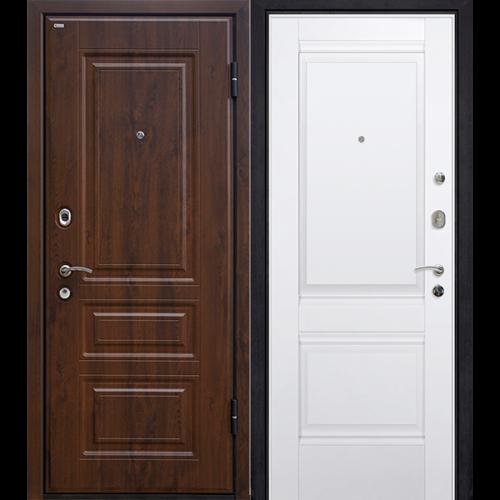 Входная дверь - Входная дверь МеталЮр М9 темный орех