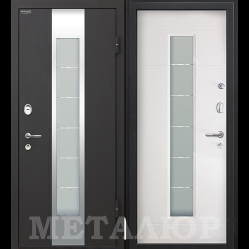 Входная дверь - МеталЮр М35 белый малибу