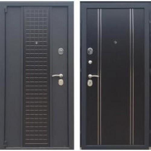 Входная дверь - Модерн Чёрный шёлк К13 венге