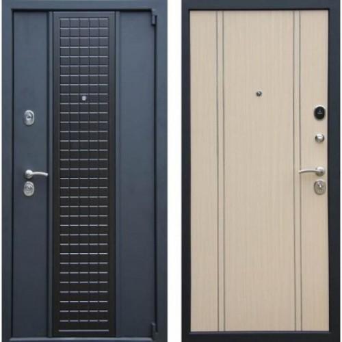 Входная дверь - Персона Модерн Чёрный шёлк К13 венге/бел.дуб РМ4