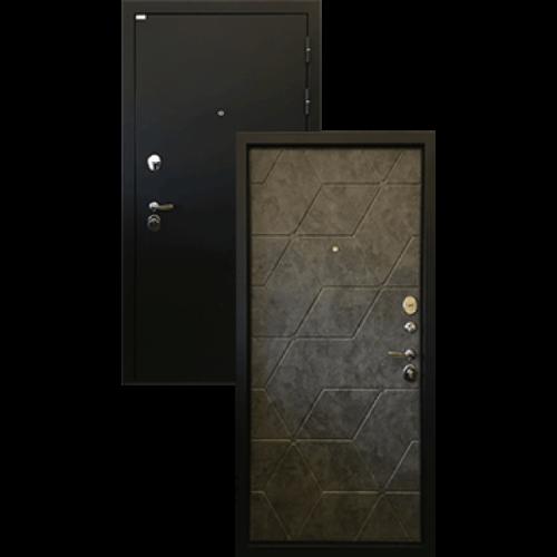 Входная дверь - Тетра 3К Черный муар/Бетон графит 96 R