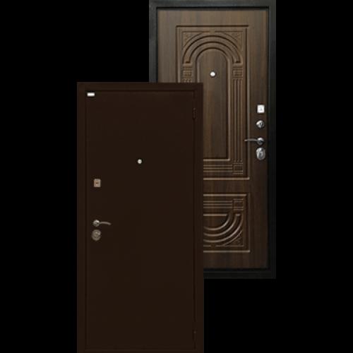 Входная дверь - Ратибор Оптима 3К Орех бренди