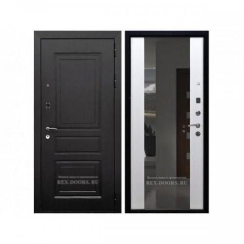 Входная дверь Rex 6 Лондон СБ-16 с зеркалом Венге / Ясень белый