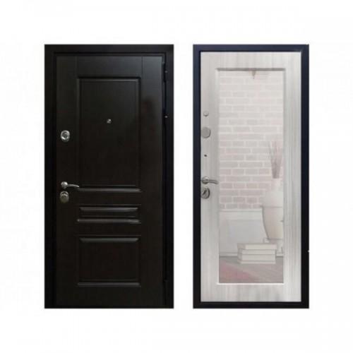 Входная дверь Rex Премиум Н Пастораль с зеркалом Венге / Сандал белый
