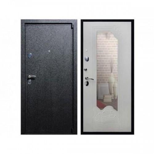 Входная дверь ReX 3 Зеркало Ясень белый