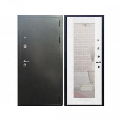 Входная дверь REX 11 Белый Ясень с зеркалом