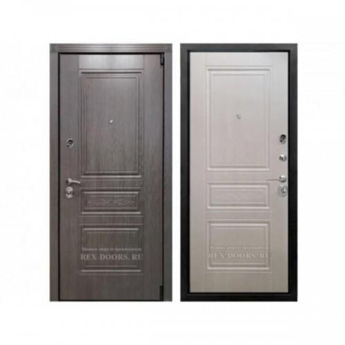 Входная дверь REX Премиум S Лиственница серая / Лиственница беж