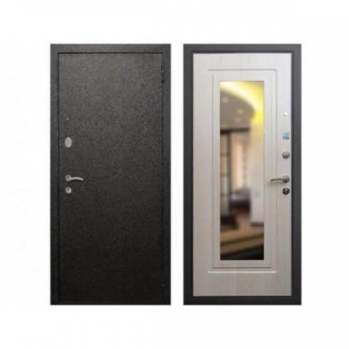 Входная дверь REX Верона 6 Зеркало Беленый дуб