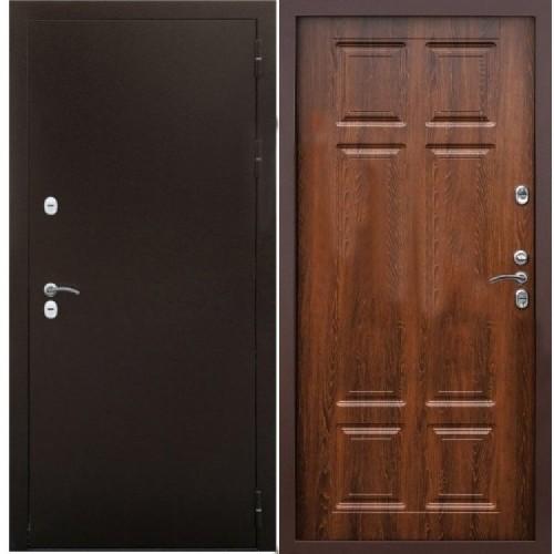 Входная дверь - Снедо Сибирь Термо 3К (Медный антик / Дуб филадельфия коньяк)