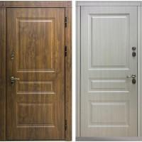 Входная дверь - Снедо Сибирь Термо Премиум 3К (Тёмный дуб / Белая лиственница)