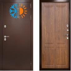 Входная дверь с терморазрывом -  Сибирь термо орех (TD)
