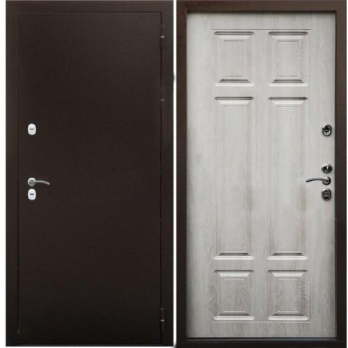 Входная дверь - Снедо Сибирь Термо 3К (Медный антик / Дуб филадельфия крем)