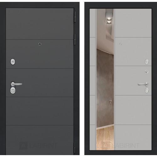 Входная дверь - ART графит с Зеркалом 19 - Грей софт