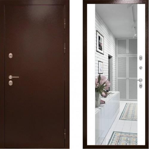 Входная дверь с терморазрывом - Сибирь термо зеркало белый (TD)