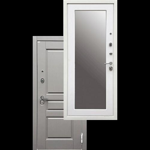 Входная дверь - Ратибор Лондон 3К Зеркало Силк Сноу