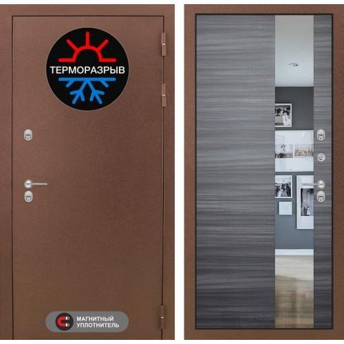 Входная дверь - Термо Магнит с Зеркалом - Сандал серый горизонтальный