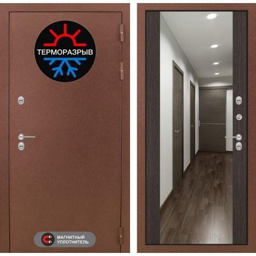 Входная дверь - Термо Магнит с Зеркалом Максимум - Венге