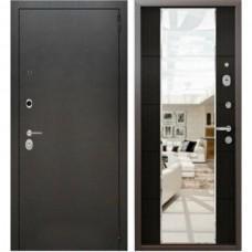 Входная дверь - Аляска серебро зеркало макси 3К Венге 86R