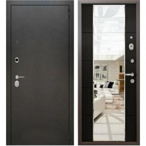 Входная дверь - Аляска серебро зеркало макси 3К Венге