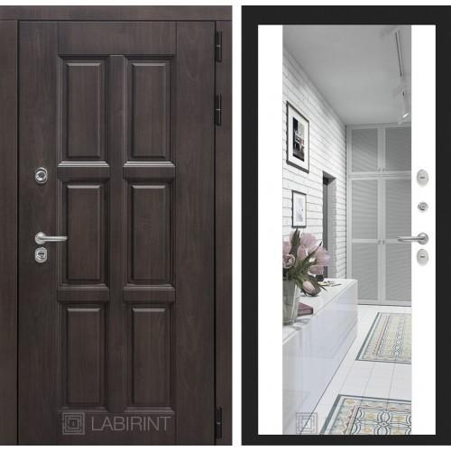 Входная дверь Лабиринт Лондон с зеркалом максимум Белый софт