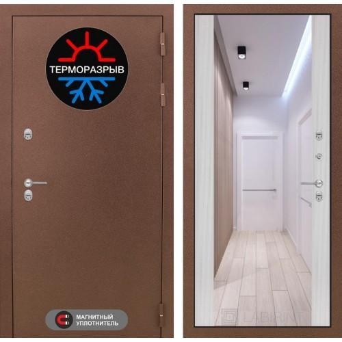 Входная дверь - Термо Магнит с Зеркалом Максимум - Сандал белый