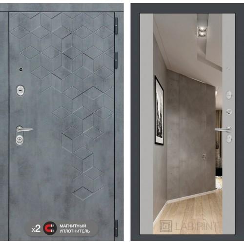 Входная дверь - Бетон с зеркалом Максимум - Софт Грей