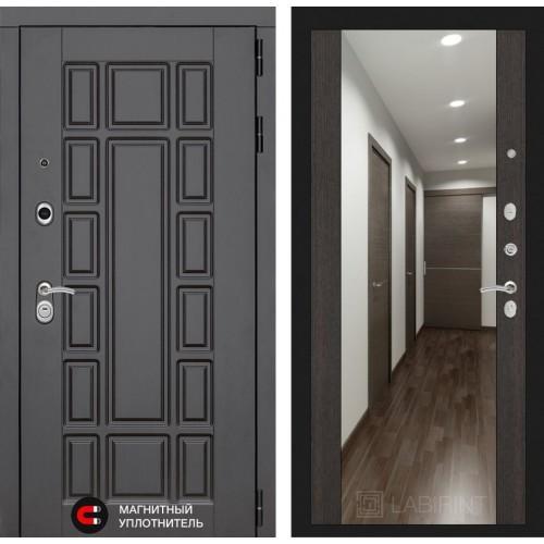 Входная дверь - NEW YORK с Зеркалом Максимум - Венге