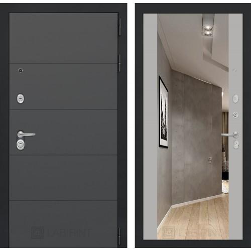 Входная дверь - ART графит с Зеркалом Максимум - Грей софт