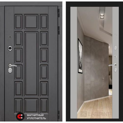 Входная дверь - NEW YORK с Зеркалом Максимум - Софт Грей