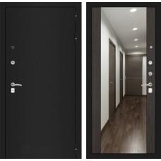 Входная дверь - CLASSIC шагрень черная с Зеркалом Максимум - Венге