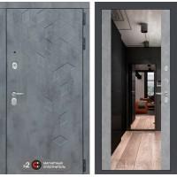 Входная дверь Бетон с зеркалом Максимум - Бетон светлый